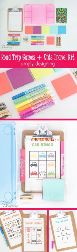 Road Trip Games and Kids Travel Kit - so simple to put together and an absolute life saver for long car rides - Copy