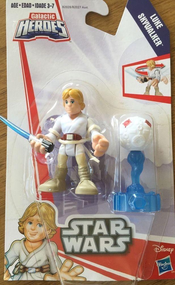 STAR WARS Galactic Heroes LUKE SKYWALKER Twist-n-Strike Action Figure Hasbro NEW #Hasbro