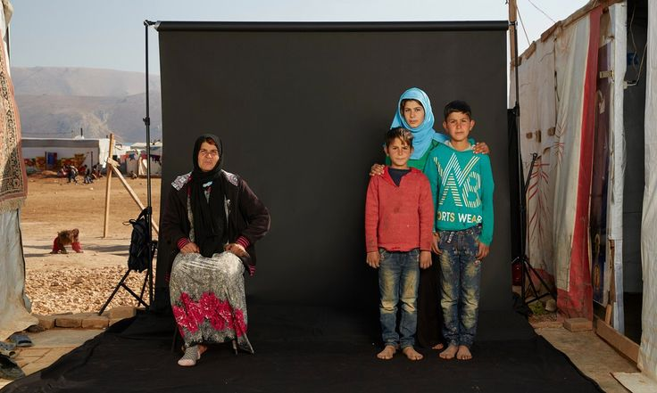 Photographer Dario Mitidieri's traditional portraits of refugees highlight one crucial factor – those who are absent because of the war. He tells Joanna Moorhead why war is all about families