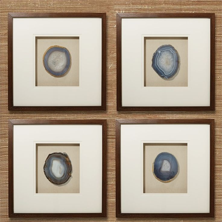 Genuine Geode And Agate Wall Art Set Of 4 By Tozai Home