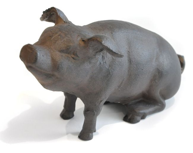 Sitting Pig - This Sitting Pig Doorstop is a must for any pig lover. Made from…