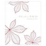 Wedding Stickers - Wedding Labels - Autumn Leaf Rectangular Sticker Labels (12 Colors)