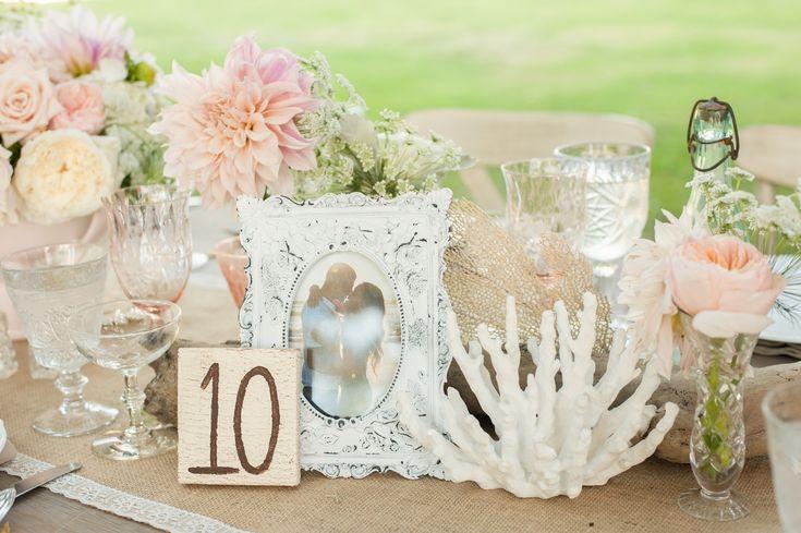 Coral & Flower Centerpiece   Photography: Jana Williams Photography. Read More: http://www.insideweddings.com/weddings/katrina-hodgson-and-brian-scott/533/