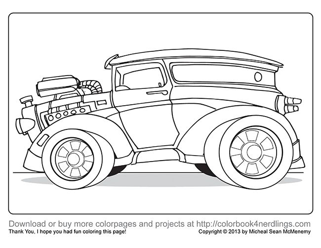 I Made Some Test Cars For A New Coloring Book