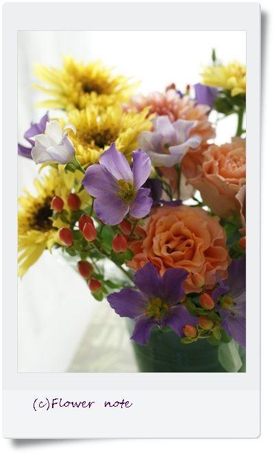 『【今日の贈花】お花で繋がる・つながる』 http://ameblo.jp/flower-note/entry-11586361166.html