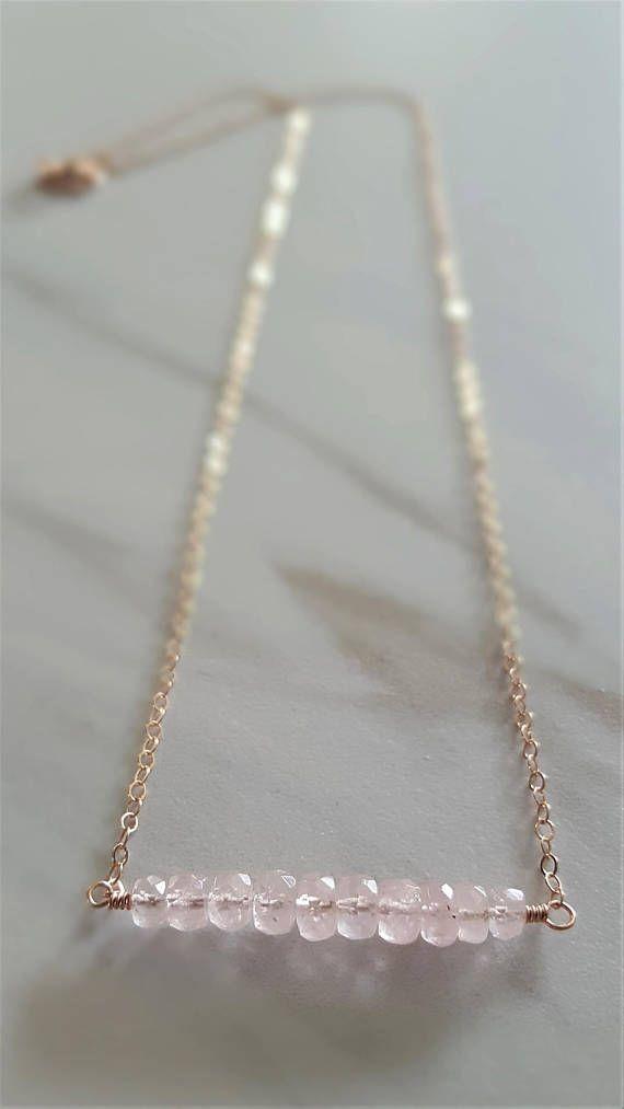 Rose Gold And Pink Morganite Necklace Real Pink Morganite