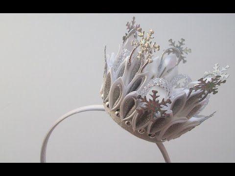 Как сделать корону принцессы на Новый Год? Канзаши. Вытворяшки - YouTube
