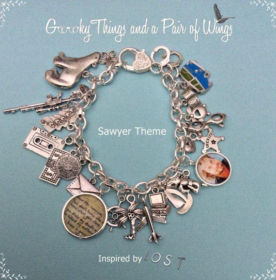 LOST Sawyer Theme Charm Bracelet by KarenchantedForest on Etsy