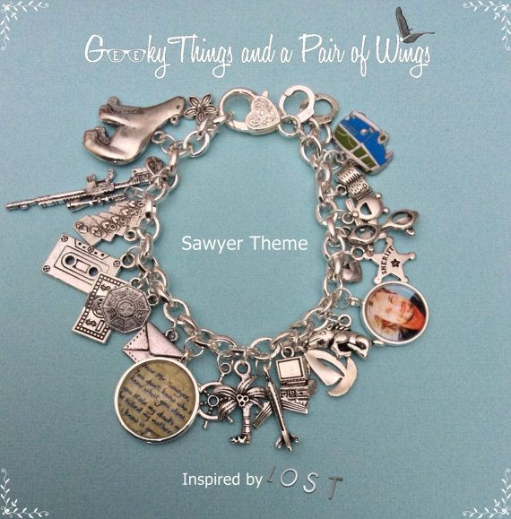 LOST Sawyer Theme Charm Bracelet by KarenchantedForest on Etsy