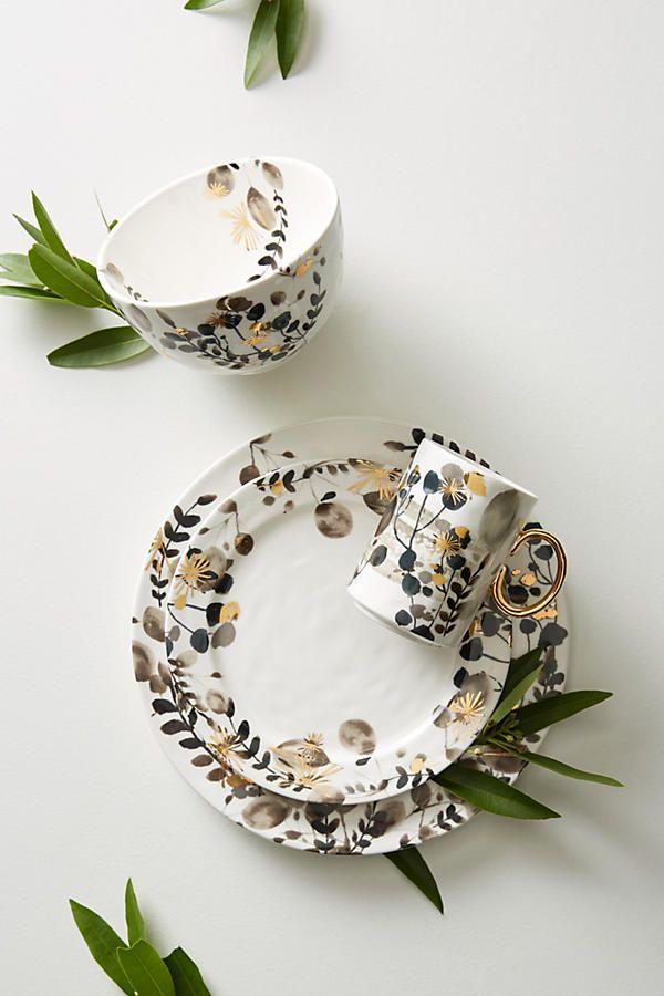 Gilded Botany Dinner Plate