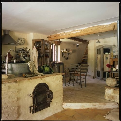 I love, love, love this old fashioned kitchen!: Cottages Kitchens, Dreams Kitchens, Dreams Houses, Old World Style, Brick Ovens, Rustic Cottages, Wood Ovens, Pizza Ovens, French Kitchens