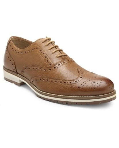 Hats Off Accessories Brogue Shoes with colored Sole| Buy Online Hats Off Accessories genuine leather Brogue shoes