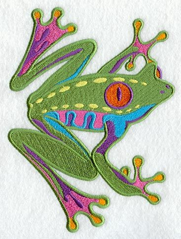 Caribbean Creatures Tree Frog design (C3532) from www.Emblibrary.com