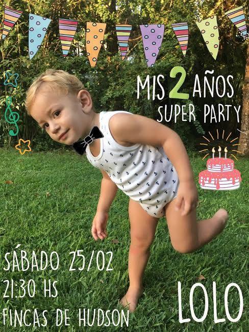 Invitación cumpleaños de Lorenzo