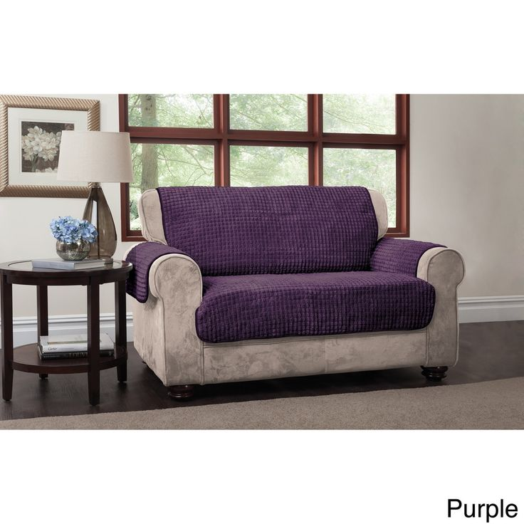 Innovative Textile Solutions Puffs Plush Furniture Protector Loveseat Slipcover - 16318378 - Overstock - Big Discounts on InnovativeTextile Solutions Loveseat Slipcovers - Mobile