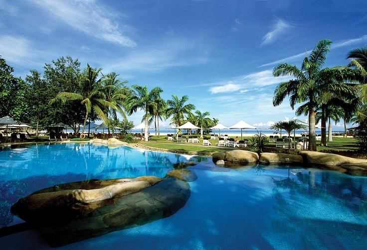 Garden Wing Pool  Shangri-La's Rasa Ria Resort, Kota Kinabalu