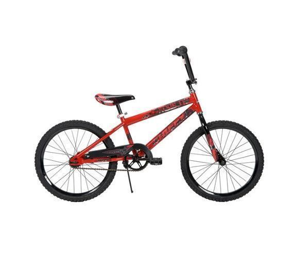 "20"" Boys Bike Single Speed Steel Frame and Rims Rugged Tires Smooth Riding Red  #Huffy"