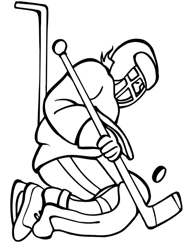 17 Best images about Hockey party on Pinterest Coloring pages - new coloring page of a hockey player