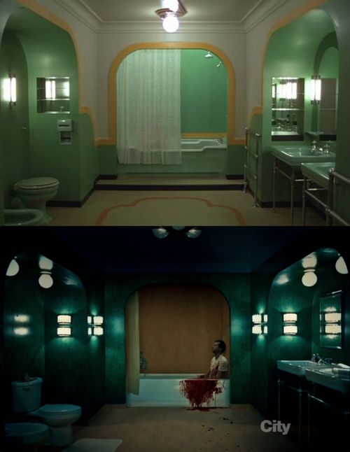 One bathroom homage to The Shining just wasn't enough for Bryan Fuller.: Hannibabe Lecter, Bathroom Homage, Sweet Psychopath, Google Search, Hannibal Fannibal, Stag House, Wolf Trap, Beautiful Films