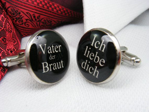 Vater der Braut - Ich lieve dich - Manschettenknöpfe - Father of the Bride - I love you - German - Cufflinks - Men - Wedding Ideas - For Him on Etsy, $39.00 CAD