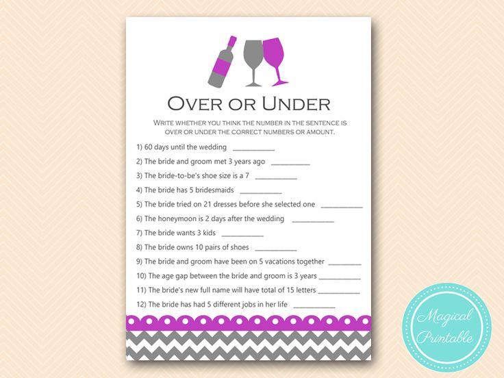 bs146 over or under quiz purple wine bridal shower game
