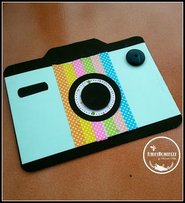 HappyMomentzz crafting by Sharada Dilip: A camera card with 123 punch board