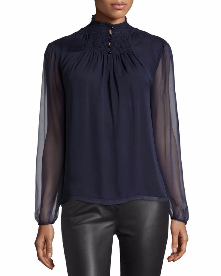 alta blusa de cuello con la manga obispo de tul, Ver blusa de cuello alto, yimiyi Detalles del producto desde Dongguan Yimi prendas de vestir Co., Ltd. en Alibaba.com