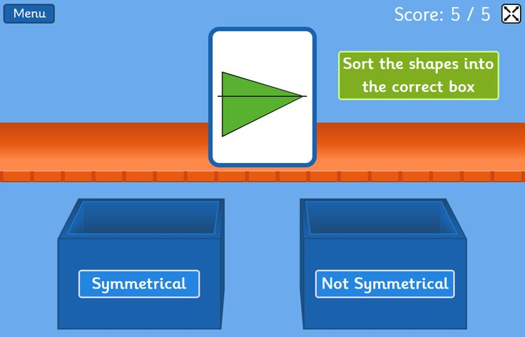Symmetry Sorting Game - Sort symmetrical and non-symmetrical images - 6 to 8 year olds