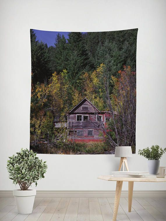 Rustic Wall Tapestry Autumn Colors Rustic Tapestry Fall