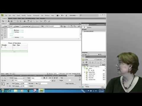 TIPS & TRIK BELAJAR Designing Tables in Dreamweaver CS4