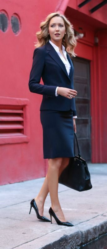 working girl wardrobe essentials {theory suit}