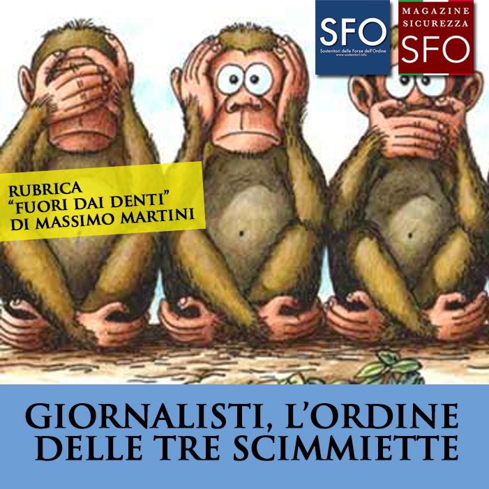 GIORNALISTI, L'ORDINE DELLE TRE SCIMMIETTE - http://www.sostenitori.info/giornalisti-lordine-delle-tre-scimmiette/258541