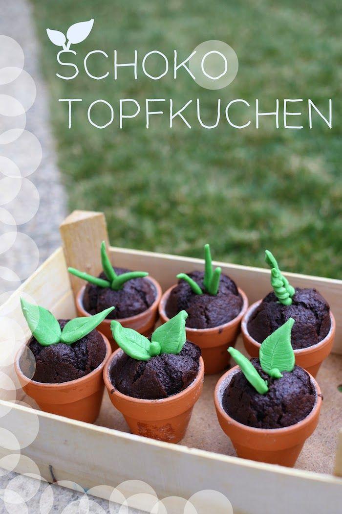 Eine wirklich zauberhafte Backidee, nicht nur für Grünzeugfans: Schoko-Topfkuchen