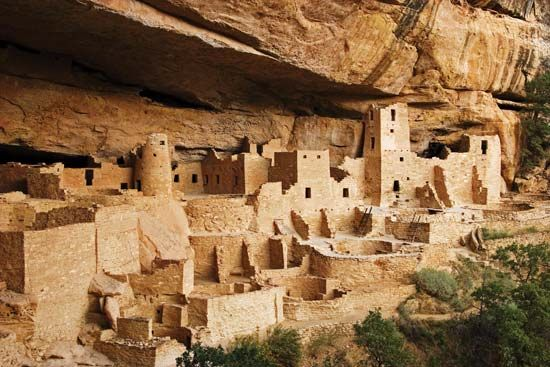 The Pueblo Indian's cliff dwellings in Mesa Verde National Park in Colorado....So very interesting,