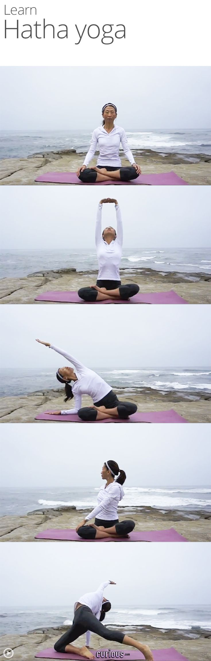 Previous pinner says Hatha Yoga Flow I have been doing this type of yoga and my stress level has gone down tremendously and my legs arms and stomach are beginningto get toned love this