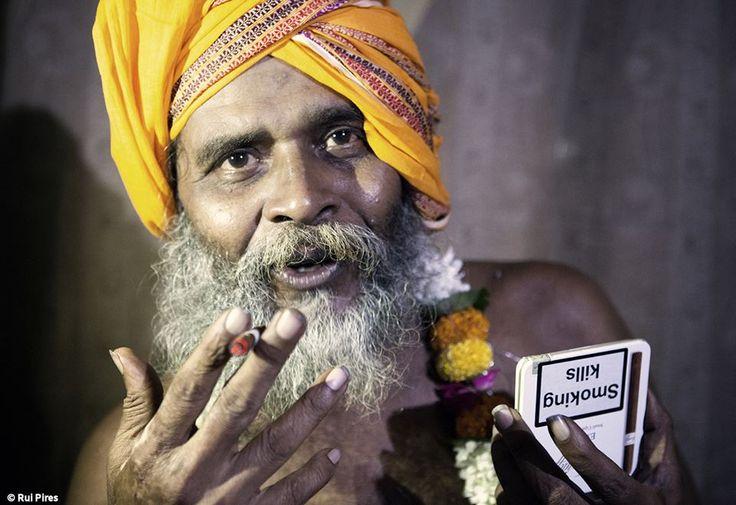 "Rui Pires, ""Lands of Shiva"" (Aghori Sadhu smoking my Davidoff cigars) India"
