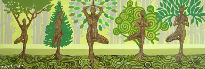 love tree pose-- beautiful art work for any room!