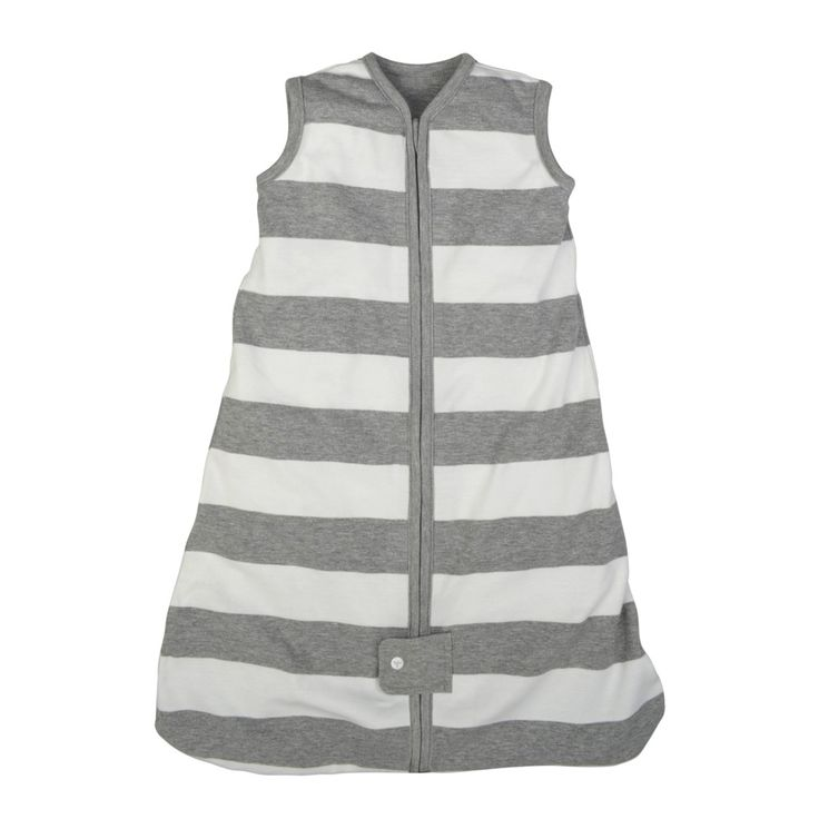 Burt's Bees Baby Organic Cotton Wearable Blanket - Rugby Stripes - Gray -