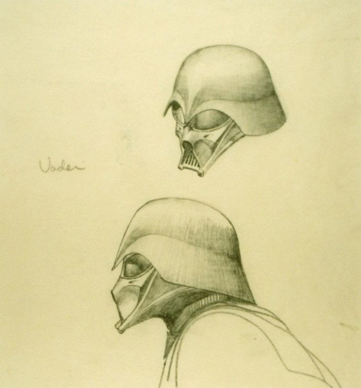-Early Vader- In honor of Ralph McQuarrie. June 13, 1929-March 3, 2012 // Designer for original Star Wars trilogy. Lucasfilm Ltd. & TM. All Rights Reserved. RALPH MCQUARRIE