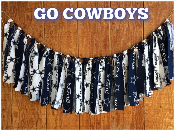 NFL Dallas Cowboys Fabric Garland, Dallas Cowboys party decor, NFL banner, Football party garland, Dallas Cowboy Tailgate decor, Football by QueensBanners on Etsy https://www.etsy.com/listing/247875943/nfl-dallas-cowboys-fabric-garland-dallas