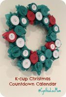 Recycled K-Cup Christmas Countdown Calendar. Girl Scout or Cub Scout #reusing project?