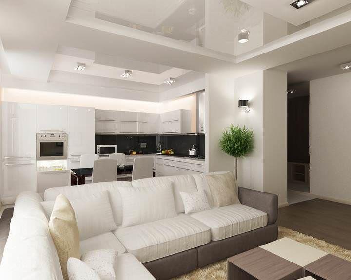 Зонирование гостиной и кухни: идеи, как разделить, как разграничить зоны, фото, видео