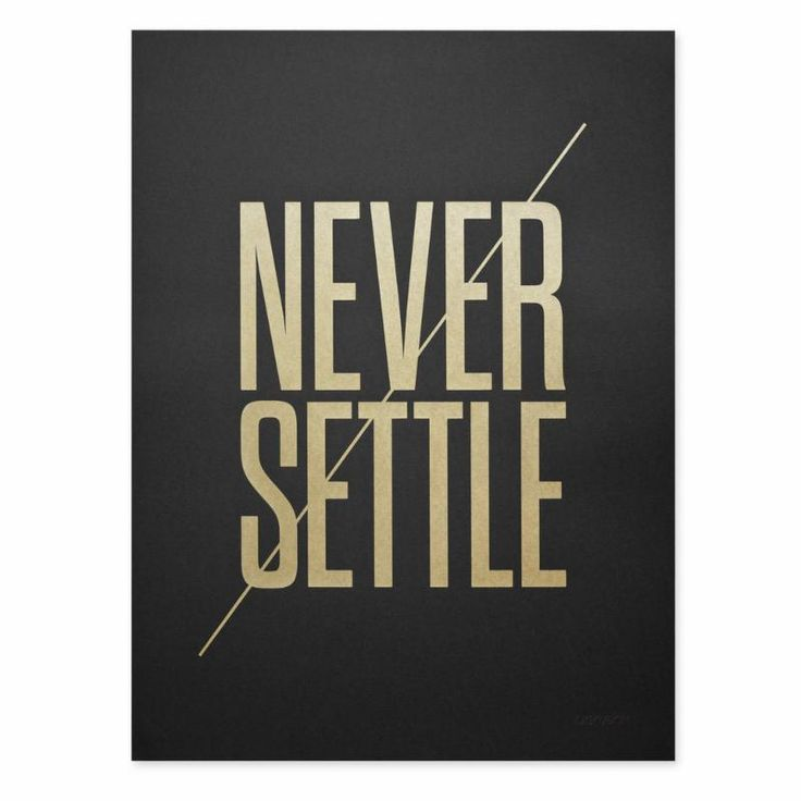 Settling is easy. After all, everybody else is doing it. #JeffNischwitz #NischwitzGroup