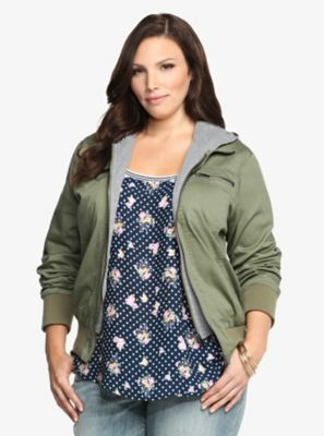 Hooded bomber jacket by Torrid. Just bought it!