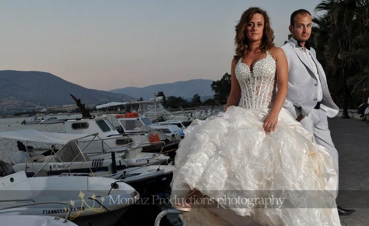 Φωτογραφία γάμου το δειλινό