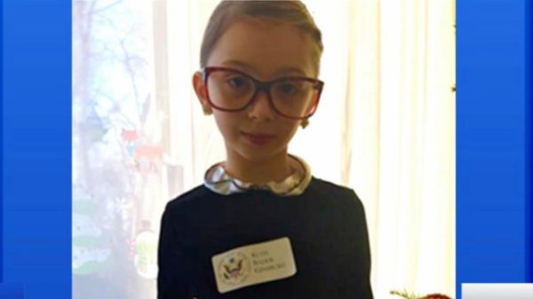"An 8-year-old girl who dressed as Supreme Court Justice Ruth Bader Ginsburg for her school's superhero day last month received a handwritten note from Ginsburg with a special message. ""You look just like me,"" Ginsburg, 83, wrote to Michele Threefoot, a third-grader, on Supreme Court stationery. ""Every good wish,"" Ginsburg signed the note."