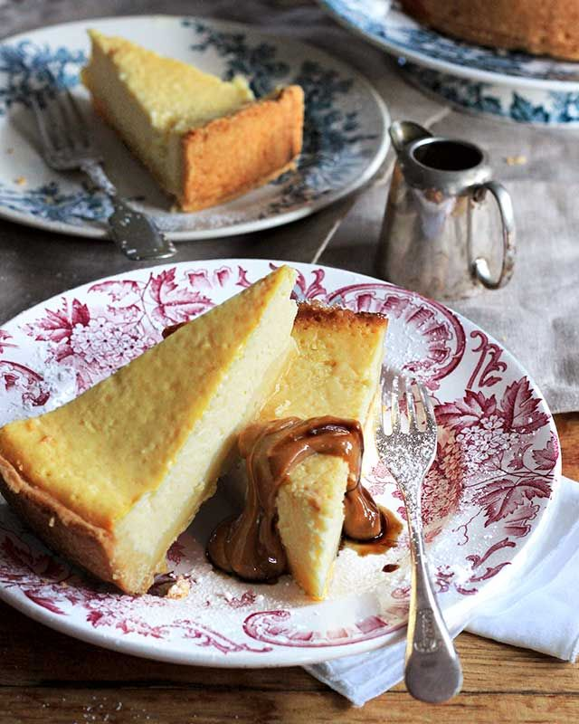 Cheesecake with a twist! This one contains buttermilk and is served with a deeply satisfying salted caramel sauce.
