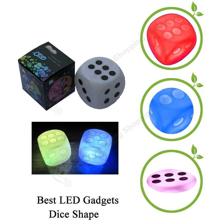 Best LED Gadgets, Dice Shape, 7 Color, Cute Novelty, Party Gift - Details