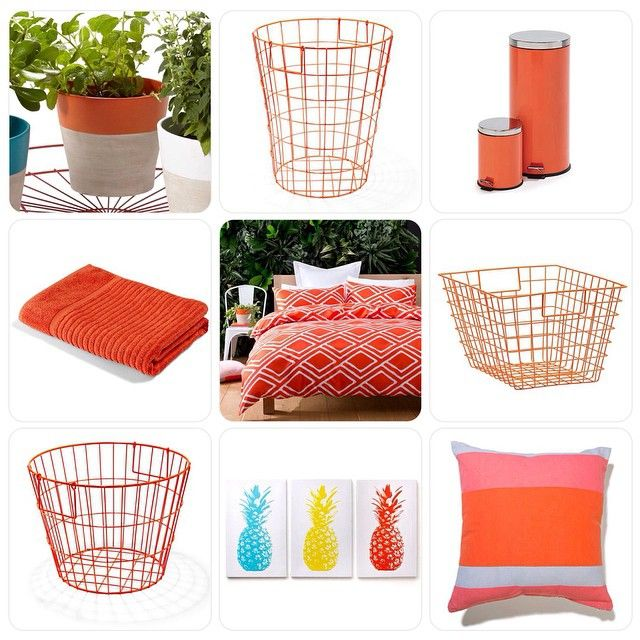 """""""Tonight's @kmartaus colour theme I have gone with #orange products.. I can't believe that middle @kmartaus quilt cover set is only a #bargain price of $10…"""""""