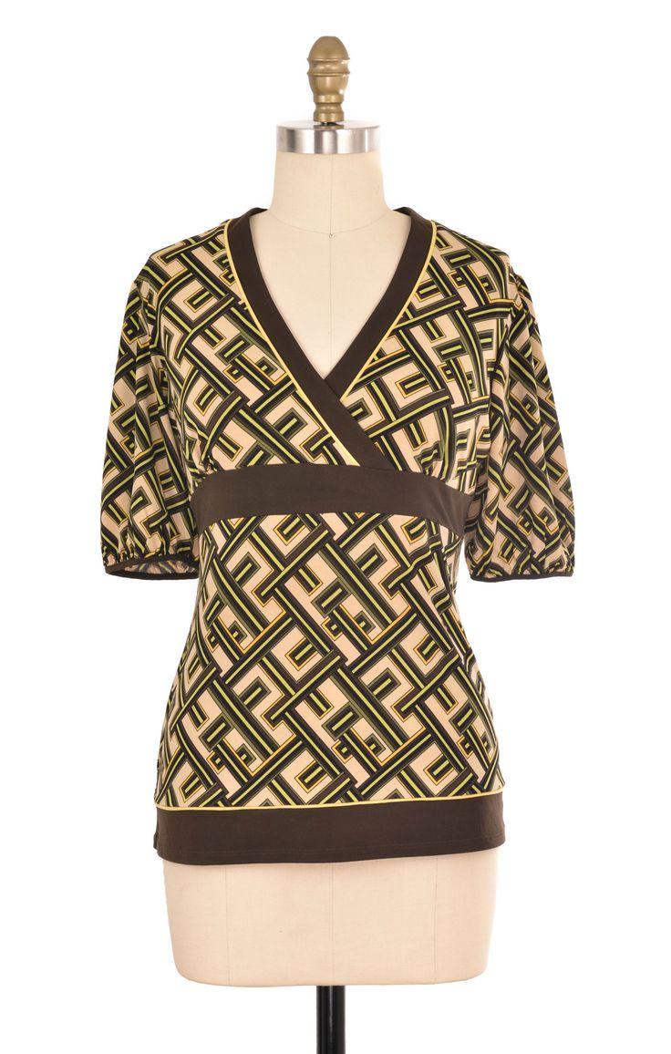 Ann Taylor Loft Multi-Color Brown Print Top Size S | ClosetDash #anntaylor #brown #yellow #print #top #shirt #bottomlesscloset #fashion #style #shopforacause